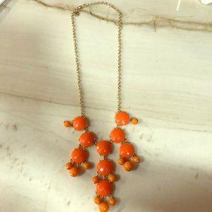 J. Crew orange drop flower necklace